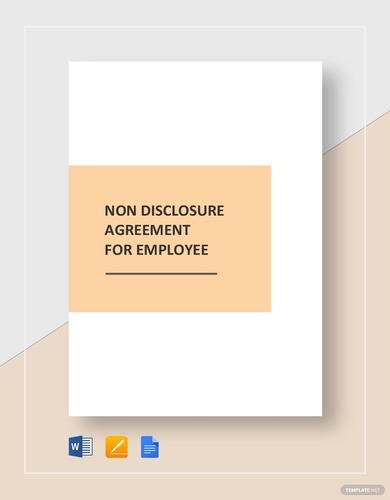 employee non disclosure agreement