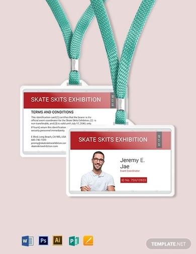 event coordinator id card template