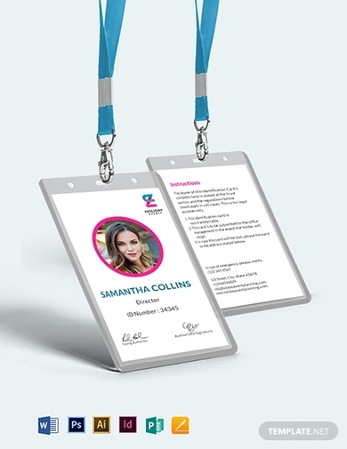 event planner id card template 1