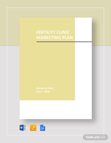 fertility clinic marketing plan