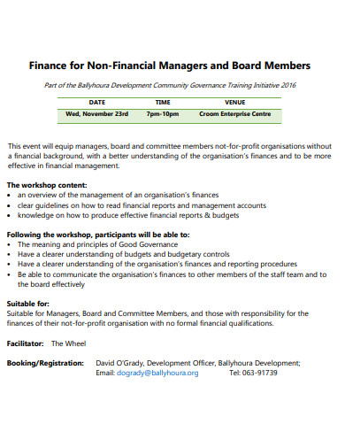 finance for non financial managers and board members