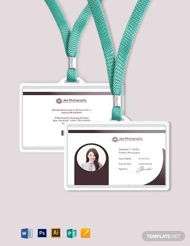 freelance photographer id card