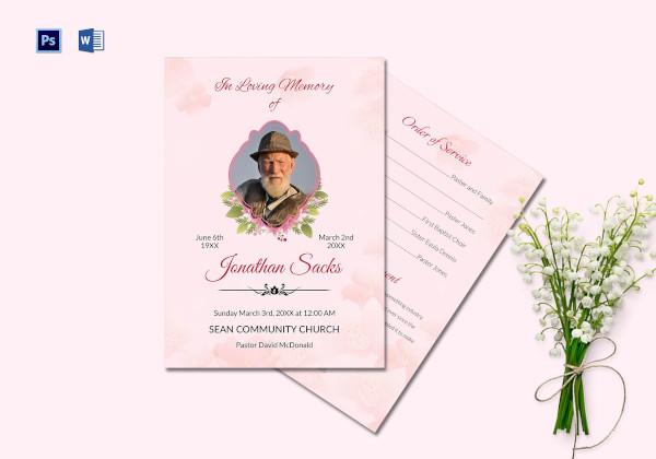 funeral order of service program