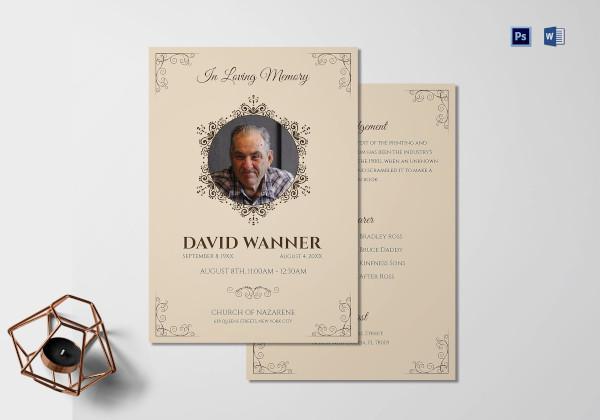 funeral and memorial service program