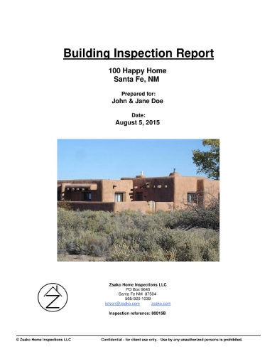 generic building inspection report