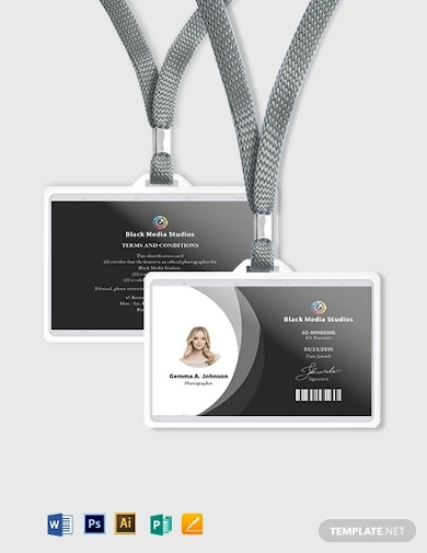 horizontal photographer id card