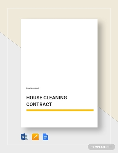house commercial cleaning contract