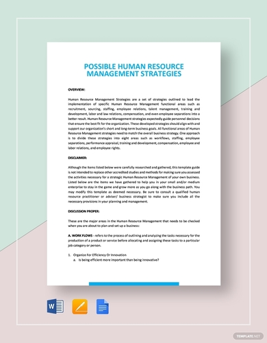 human resources management strategies