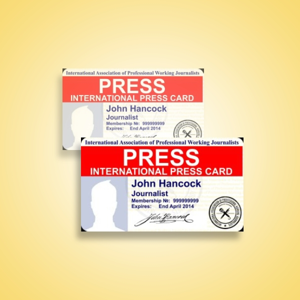 international press association id card