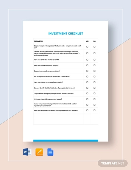 investment checklist template1