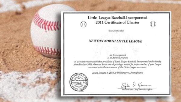 little league baseball award certificate