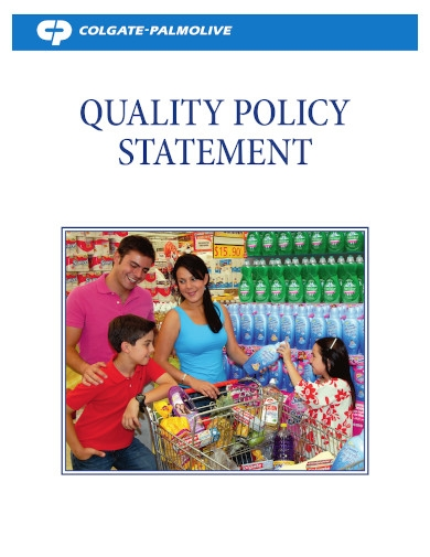 manufacturing company quality policy