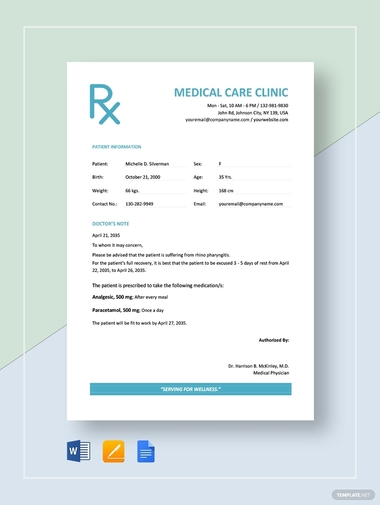 medical care clinic notes