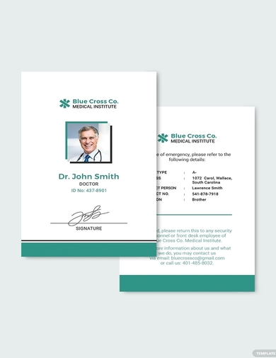 medical staff id card