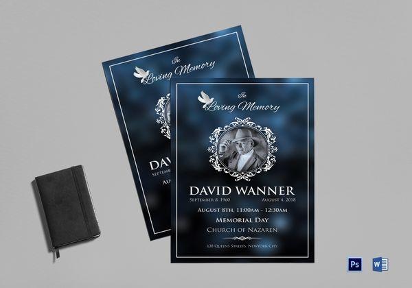 memorial funeral obituary program