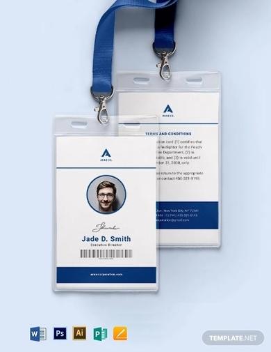 modern corporate id card