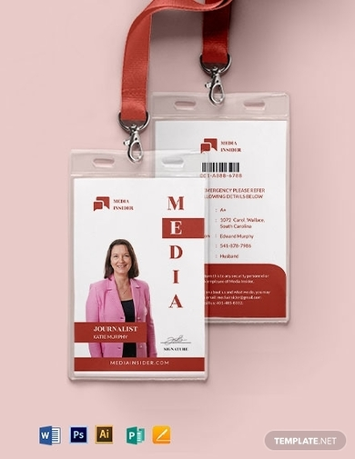 modern media id card