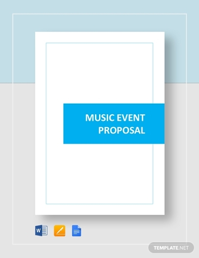 music event planning proposal