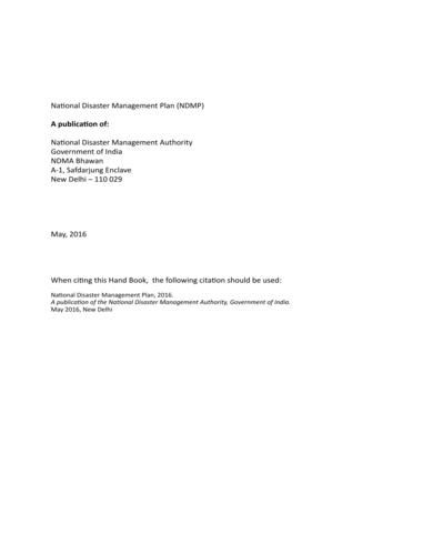 national disaster management plan