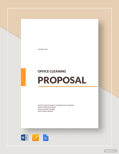 office cleaning proposal