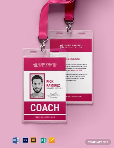 official sports id card