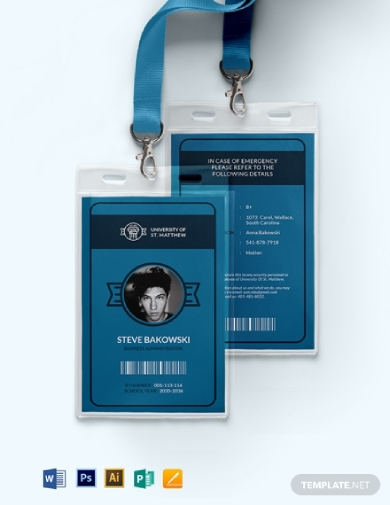 portrait university id card