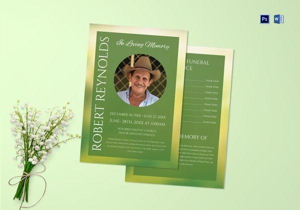 premium funeral obituary program