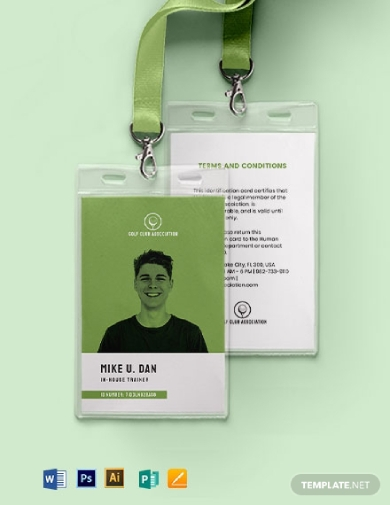 printable association id card