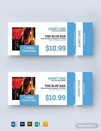 printable drink ticket