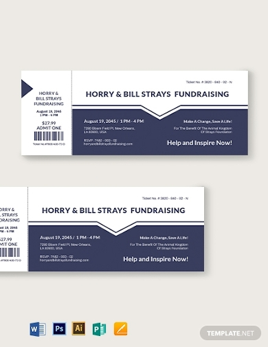 printable fundraiser ticket