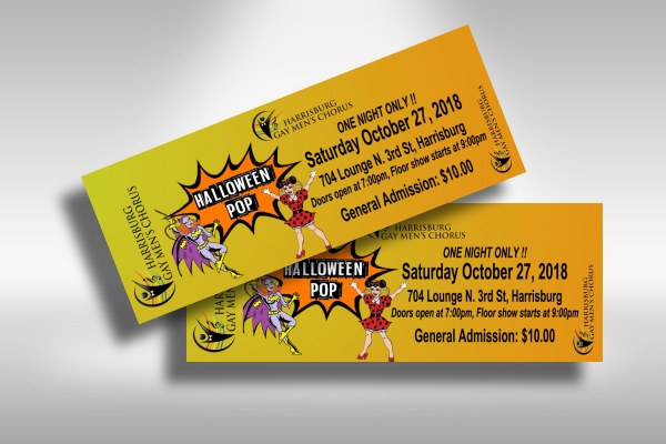 printable halloween fundraiser party ticket