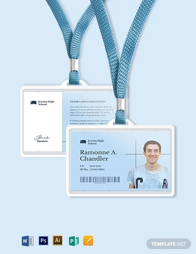 printable school id card