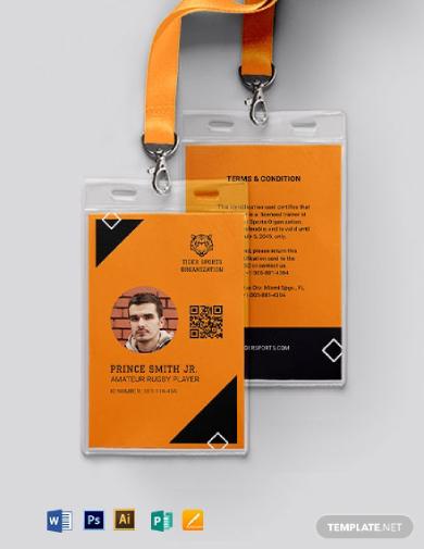 printable sports id card