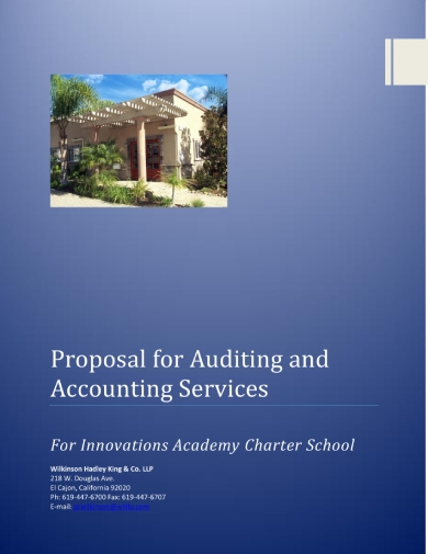 proposal for auditing and accounting services