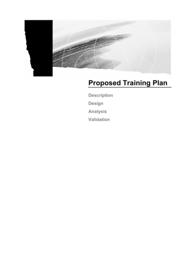 proposed training plan