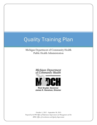 quality training plan