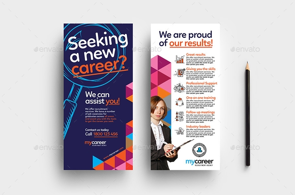 recruitment agency rack card