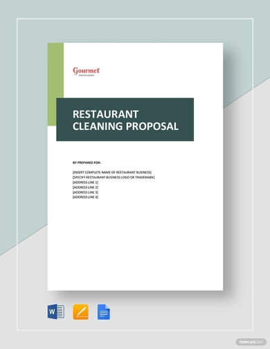 restaurant cleaning proposal