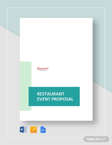 restaurant event planning proposal