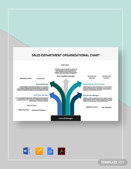 sales department organizational chart template