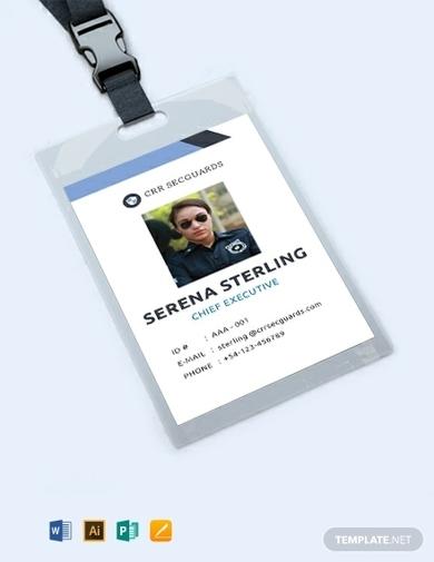 security guard id card