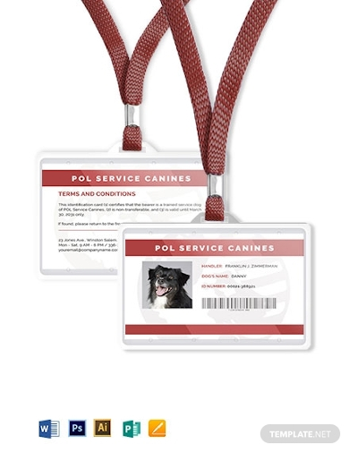 Service Dog Id Card Template from images.examples.com