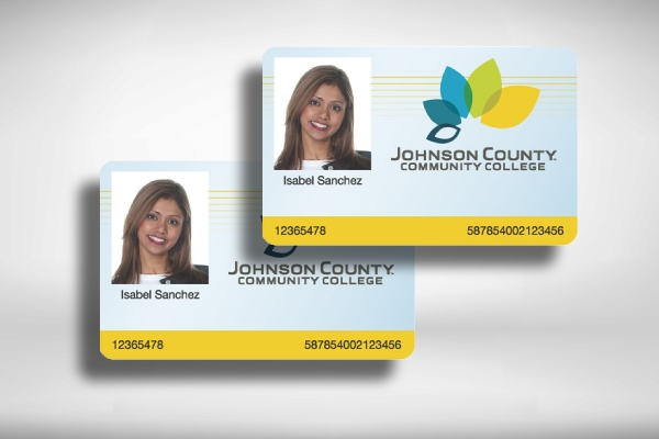 simple community college id card example