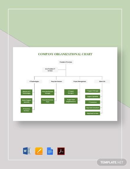simple company organizational chart template1