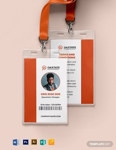 simple department id card
