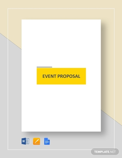 simple event planning proposal