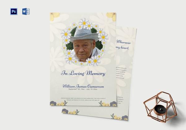 simple funeral memorial service program