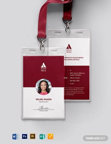 simple press id card