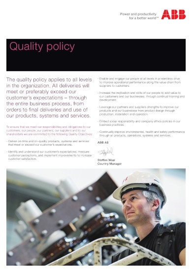technology solutions quality policy