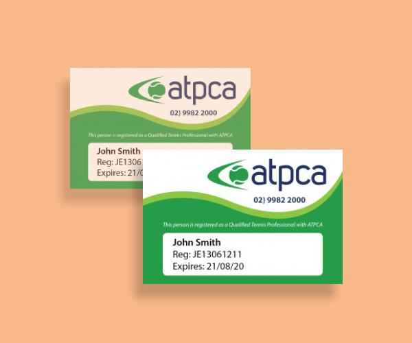 tennis coach organization id card